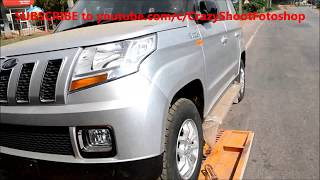 Mahindra cars unloading from the truck XUV500 W4, TUV 300 T10, TUV 300 T8, & Bolero to showroom