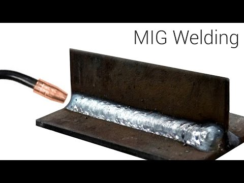 MIG Welding  - Basic T-Joint weld with a small 115 volt weld