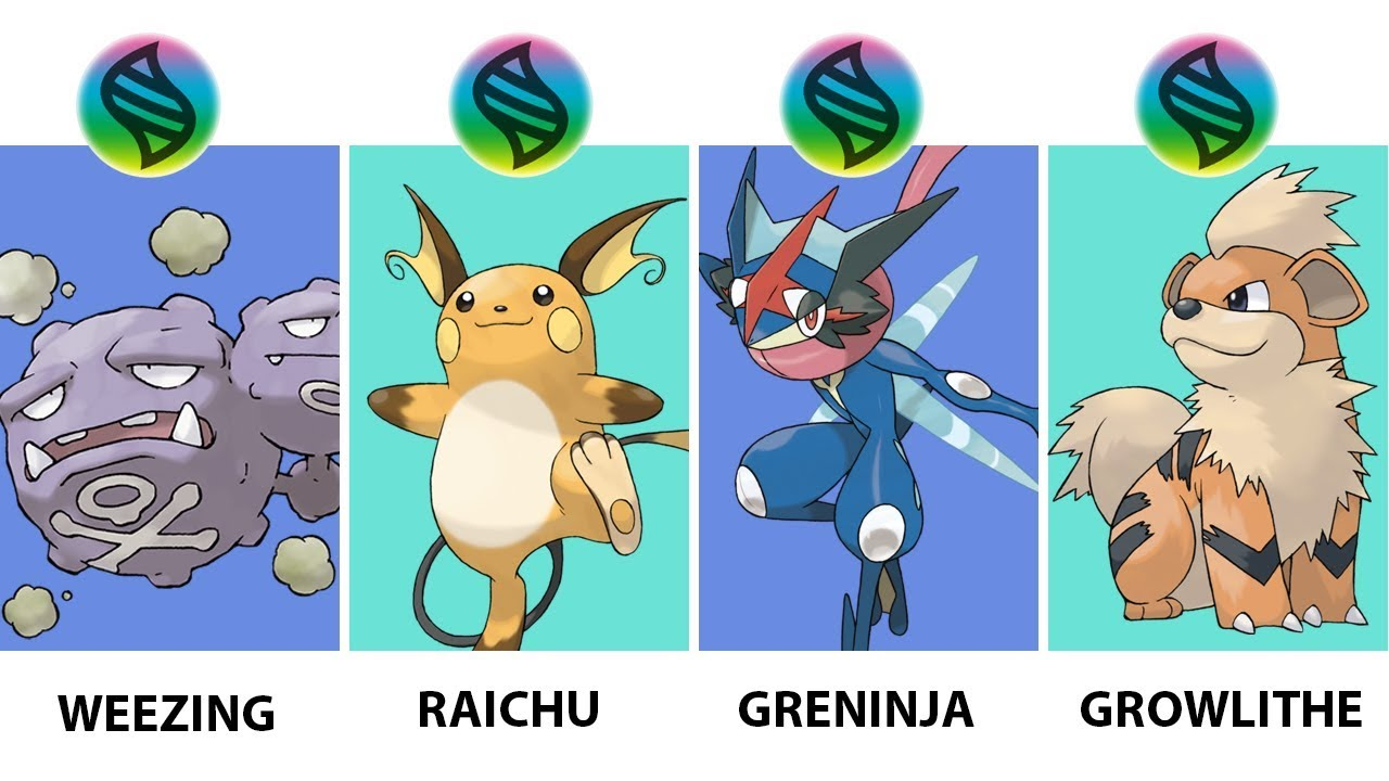 Pokemon Mega Evolution Weezing, Greninja, Arcanine, Raichu