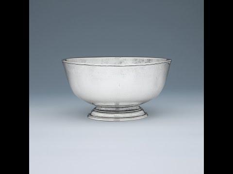 Antique Charleston Silver Bowl By Thomas You, C. 1760