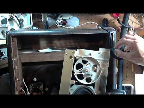 RCA Victor Model 65U Radio/Record Player Video #4 - Shock Hazard Investigation