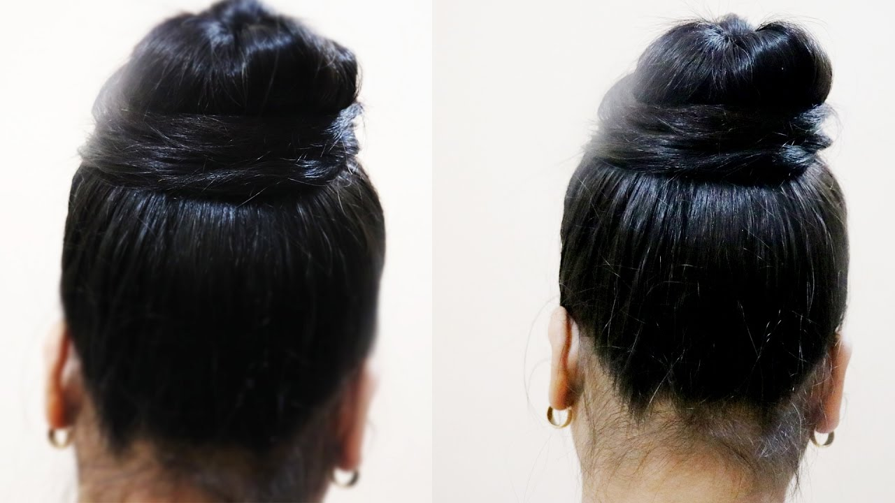 How To Make Simple Juda Messy Bun In 2 Minute Indian Wedding