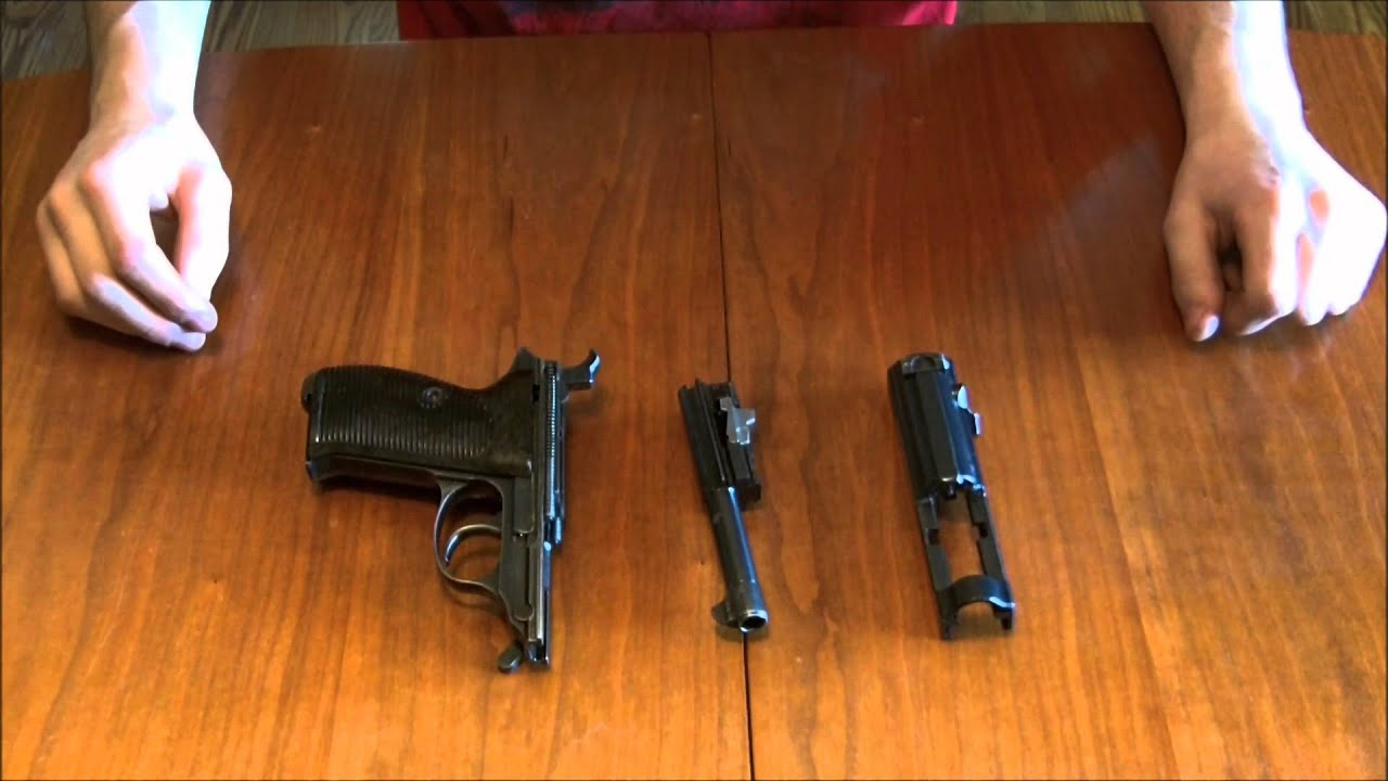 field strip disassemble walther p 38