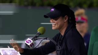 Chair Umpire Gets Drilled By Return | 2017 BNP Paribas Open