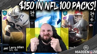 $150 WORTH OF NFL 100 FANTASY PACKS! LIKE FOR LUCK! [MADDEN 20 ULTIMATE TEAM]