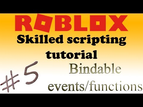 5 Roblox Skilled Scripting Tutorial Bindable Events Bindable