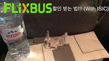 FLIXBUS 할인받는법!! (with ISIC)