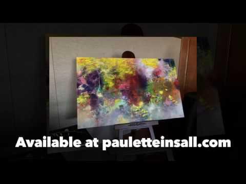 """Triune"" original contemporary painting by Portland, Oregon artist Paulette Insall"