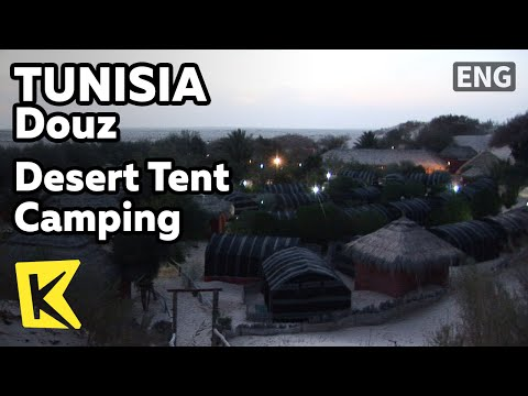 【K】Tunisia Travel-Douz[튀니지 여행-두즈]사막 텐트 캠핑/Desert Tent Camping/Brik/Food/Steak/Night Scene
