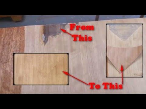 Furniture Using A Wood Veneer Patch