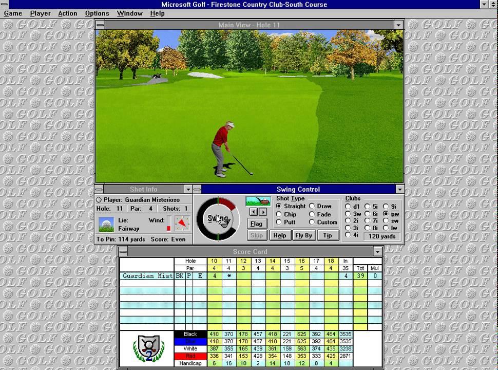 Microsoft Golf 2.0 (Access Software) (Windows 3.x) [1995 ...