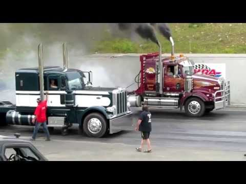 Big Rig Transports Racing Head to Head at King of the North Dragway