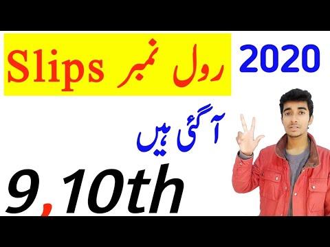 9th Class roll no slips 2020|10th Class roll no slips 2020