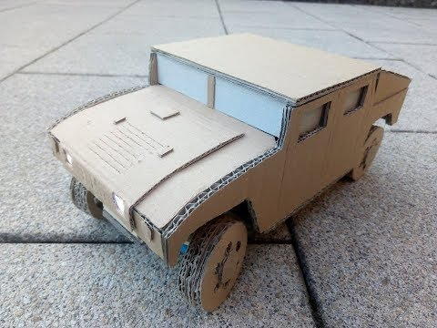 CARdboard RC car - Humvee | AWD+Suspension