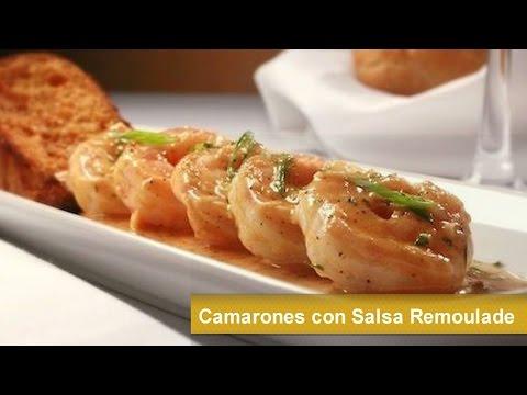 Camarones con salsa remoulade cocina francesa receta Tapas francesas