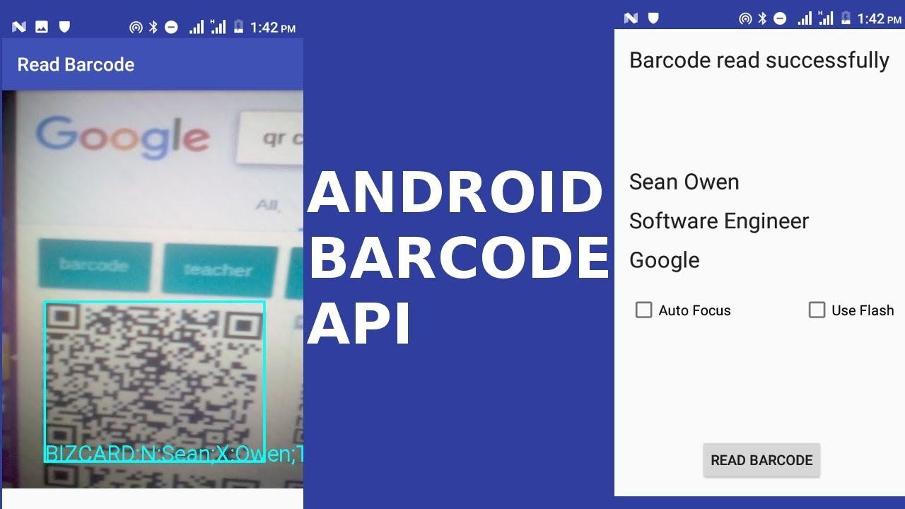 INTEGRATING GOOGLE BARCODE API INTO ANDROID