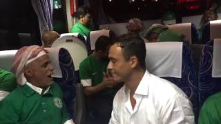 #دوري_بلس - مشجع برازيلي يرافق بعثة الروابط السعودية مع STC الى ملعب سياتاما