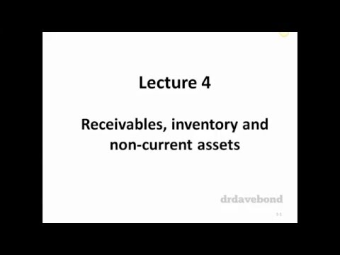 Topic 4 - Receivables, inventory and non-current assets