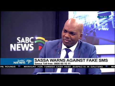 SASSA warns against fake  SMSes