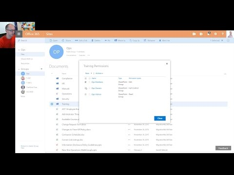 Office 365 Groups turns on SharePoint doc library features
