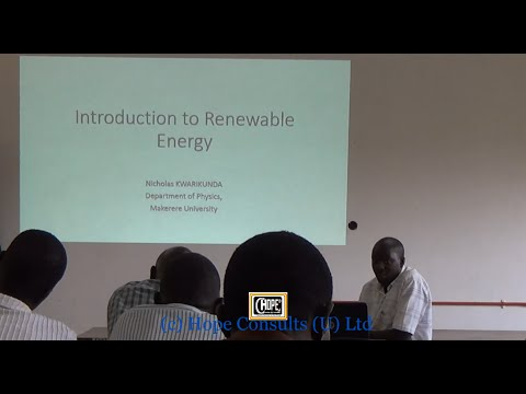PV Workshop 2015 - Introduction to Renewable Energy by NRK