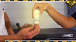 Powering a Lightbulb With Your Hand
