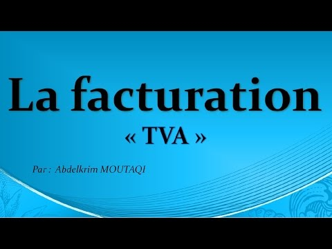 la facturation: TVA