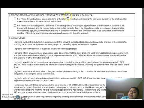 Regulatory Affairs -Form 1572 Statement of Investigator