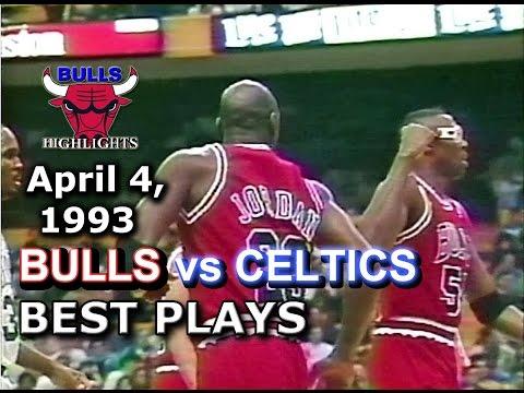 April 04 1993 Bulls vs Celtics highlights