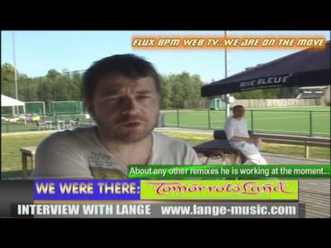 Interview with Dj Lange at Tomorrowland 2010