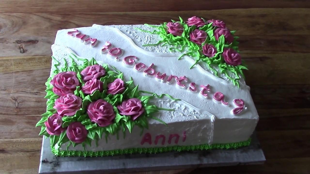Torte Für Geburtstag : torte zum 70 geburtstag f r einen frau youtube ~ Frokenaadalensverden.com Haus und Dekorationen