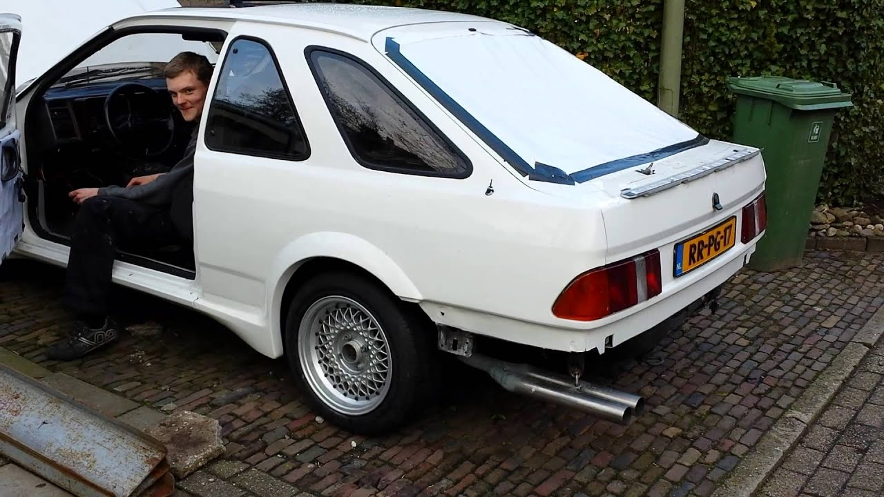 Ford Sierra Xr4i Exhaust Sound Straight Pipe Youtube