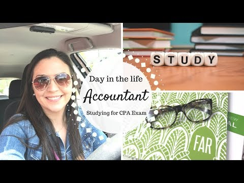 Day in the Life of an Accountant | Studying for CPA Exam |