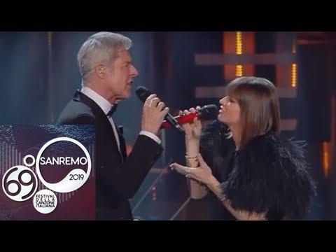 Sanremo 2019 – Alessandra Amoroso e Claudio Baglioni cantano