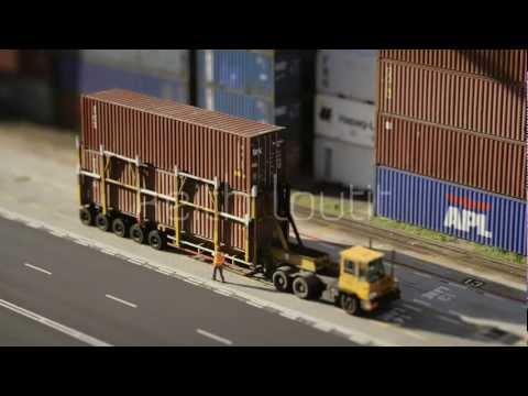 Keith Loutit - Singapore Port Truck & Driver - Stock Footage