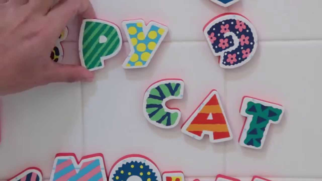 ALEX Toys ABC Stickers For The Tub - YouTube