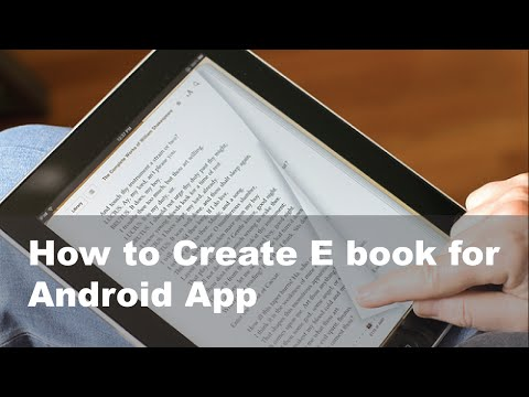 How To Create E Book For Android App