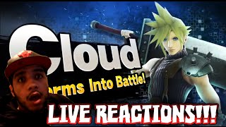 CLOUD STRIFE IN SMASH 4 LIVE REACTIONS!!! - Nintendo Direct