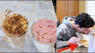 gross worms in burger prank on faze rug