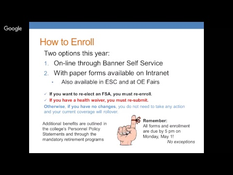Benefits Open Enrollment Presentation