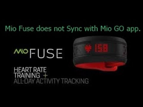 Mio Fuse syncing Problem    Fix??
