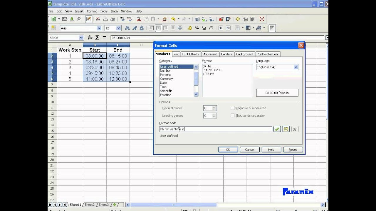 Time in Spreadsheets Part 1 -- (Excel, Libreoffice, Openoffice