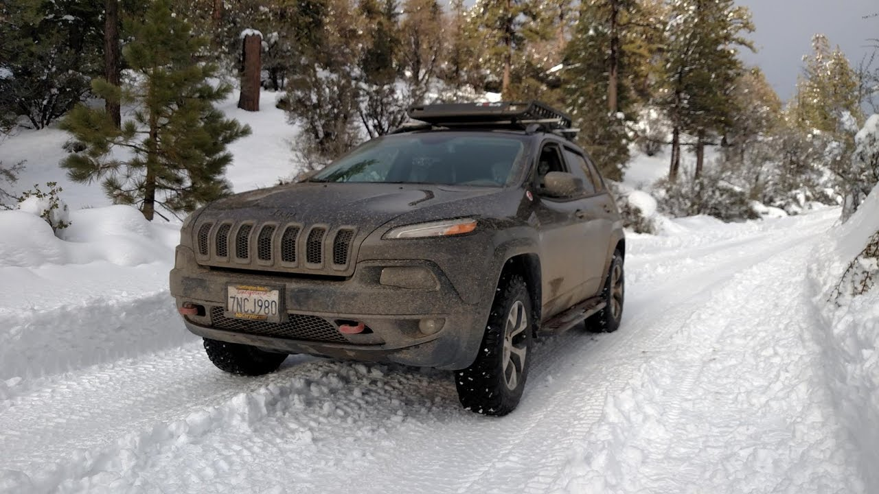 Lifted Jeep Cherokee >> (48 Minutes) Off-Road Meditation Video: Jeep Cherokee Trailhawk Overland Run - Snow To Desert ...