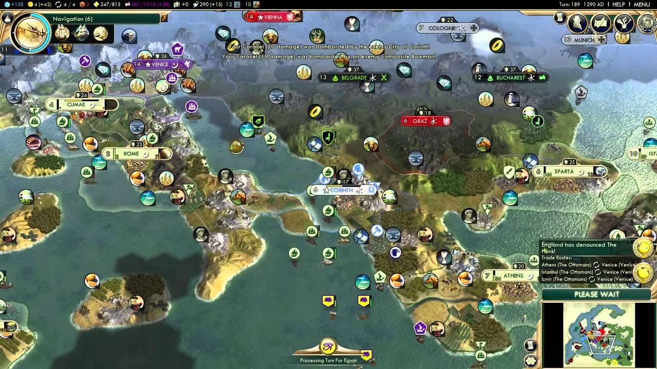Civilization 5 Gameplay Brave New World The Ottomans Pt 27 Europe