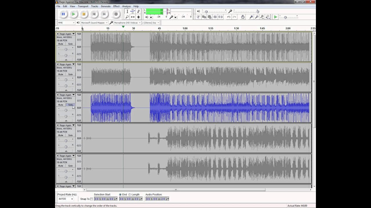Tutorial: Mixing and Editing Multi-track OGG ( mogg) files with Audacity  v1 3 14