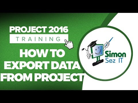How to Export Data From a Project in Microsoft Project 2016
