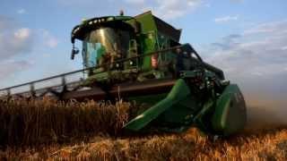 Żniwa 2013 - John Deere T670 x2 vs Pszenica ozima