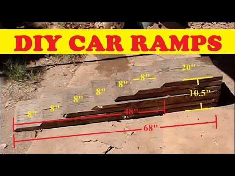 How to DIY HOMEMADE CAR RAMP - NO SLIP RAMPS