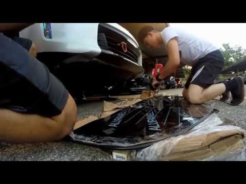 How To Install Front Splitter On 370z