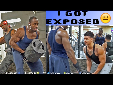 I GOT EXPOSED BY PROFESSIONAL BODYBUILDERS IN THE GYM